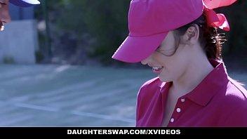 DaughterSwap - Cute Tennis Girls Fucked by Stepdads