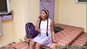 Latina babysitter jizzed thumbnail