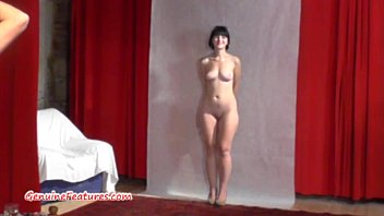 Teen erotic picture 19yo cutie shows her body at her first erotic casting
