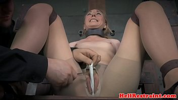 Restrained guy having sex Spreadeagle bonded slave squirts while toyed