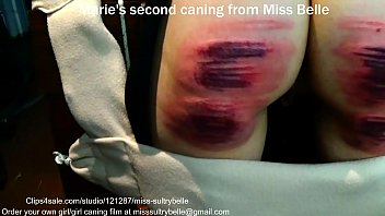 Marie's first caning.