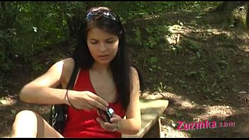 Stars upskirts The red dressed girl at the park part 3