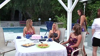 What Happens in Rich Luxury MILF Moms Tea Parties when Husbands are Away