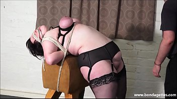 Emma bbw breasts - Amateur bondage babe emmas bbw rope works and blindfolded breast bondage of tied submissive in homemade fetish