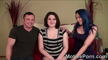 Sexy black haired Russian has creampie part 1 - watch part 2 on MotivePorn.com