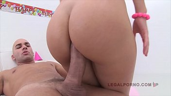 Big butt XXX schoolgirl Tina Hot gets her asshole destroyed by 3 big dicks
