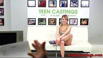 Brutal casting audition for restrained teen