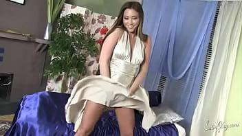 Natalia Forrest - white blown dress