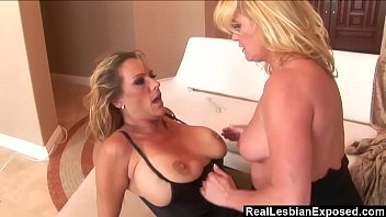 RealLesbianExposed - Femdom Debi Diamond Fucks Ginger Lynn With Her Foot