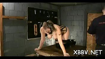 Beguiling hottie is masturbating after dinner