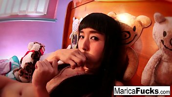 Marica plays with candy cock