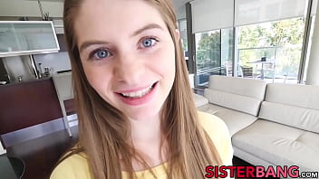 Barely legal stepsis tries out dick and cum in POV