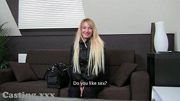 Casting Skinny blonde fucks in interview
