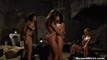 Lesbian Slaves In BDSM Whipped Hard