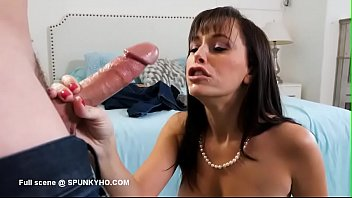 Stepmom is a freak sucking cock