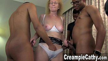 Cathy black creampie does right!