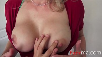 Blonde Mom Makes Son Touch Her New Tits- Cory Chase