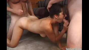 Amateur homemade double penetration Busty amateur in homemade dp threesome