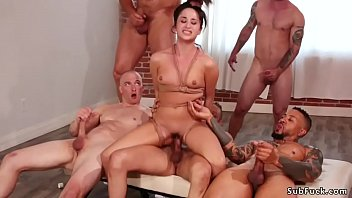 Gangbang and anal fucking in bdsm orgy porno izle