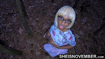 Playing With My Daughter In Law Natural Ebony Knockers After I Make Her Sneak Into The Forest, Cute Nerdy Msnovember Taboo Family Play With Step Dad On Sheisnovember