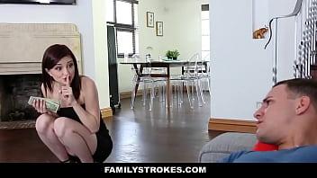 Familystrokes - Cute Step-Sis Seduces Bro With Lapdance