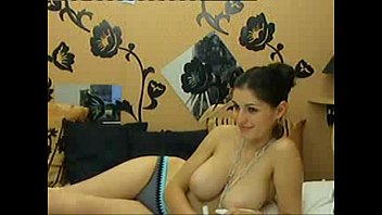 Sexy girlfriend shows her huge natural breasts on cam