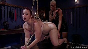 Busty ebony nun whips ass to bbw