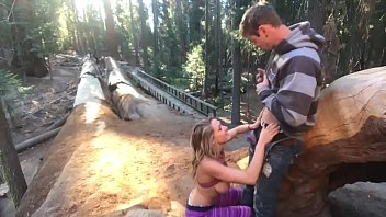 Amateur wives going wild - Fucking in the sequoias day 2 trail of the giants