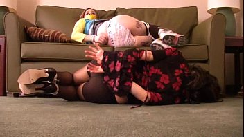 Ball gagged asian - Mother and daugther gagged