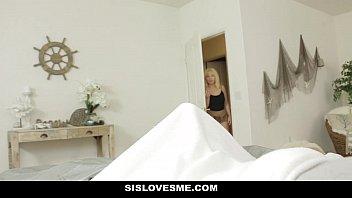 SisLovesMe - BJ Surprise From Lil Step-Sis