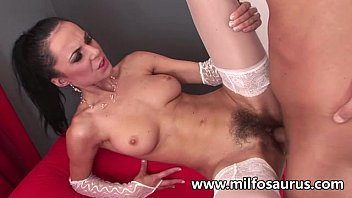 Bush twins lingerie - Hairy mature gets sodomized
