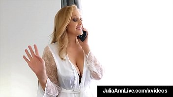 Step-Mom Julia Ann Stuffs Her Muff With Step-Son's Cock! pornhub video