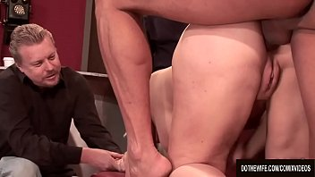 Heidi mayne fucked Blonde wife heidi mayne takes it up the ass while her cuck watches