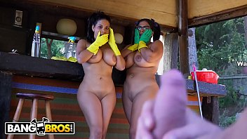 BANGBROS - Hot Latina Maids Sheila Ortega and Kesha Ortegas Get Their Big Asses Fucked