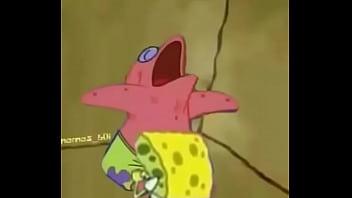 Spongebob nude Lula molusco flagra bob esponja ajudando patrick estrela com mamada escondida