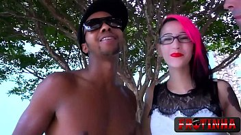 Tattooed teen does a hot threesome with two lucky guys  - Milla Spook - Frotinha Porn Star - Gozadinha -