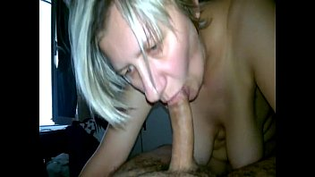 Dry dick Mature blonde sucks a big dick completely and totally dry