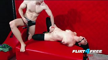 Flirt4Free Dom Punishes Sub by Gagging - Flogging and Humiliation