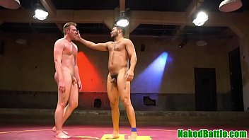 Naked wrestling gay demon Ripped hunk doggystyled after wrestling