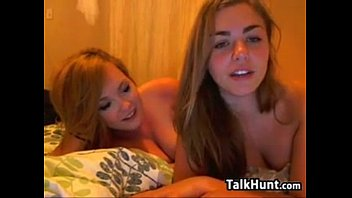 Cute Lesbian Teens Fooling Around