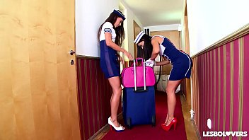 Crazy Hot Spanish Stewardess Sex With Lorena And Alexa Tomas