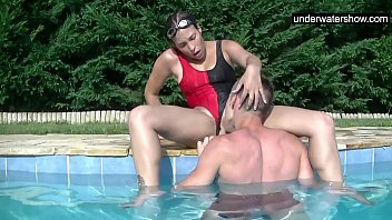 Adult beginner swim lessons - Submerged underwater with a dick inside her