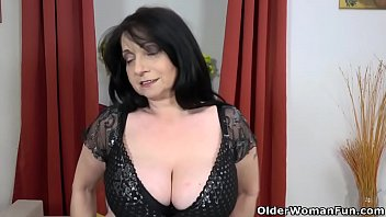 Big tits granny European granny deborah works her old pussy with toys