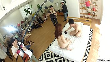 Real Japanese wives gather and watch actual JAV filming