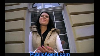 PublicAgent Rebecca has stunning blue eyes and a tight fit body.