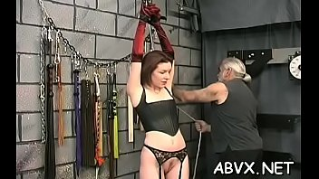 Women nude spankings - Nude woman stands and endures rough thraldom non-professional