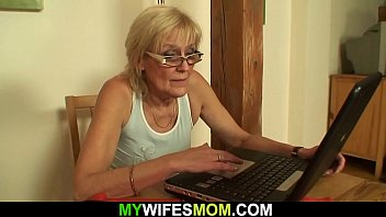 He fucks old mother-inlaw on the table