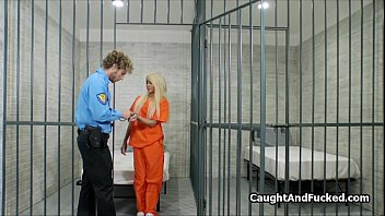 Hot blond convict fucked in jail