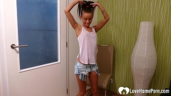 Young Stepsister Gets Naked And Fingers Herself