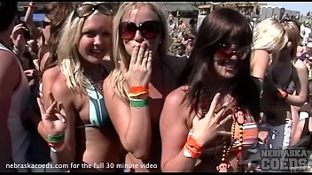 home video of spring break girls flashing and dancing home video